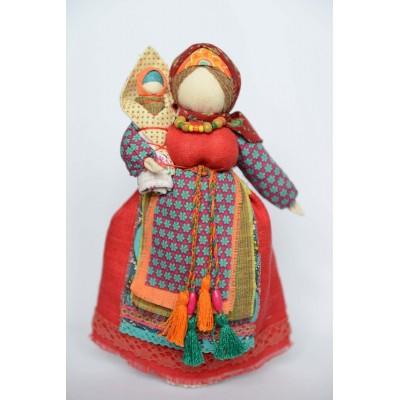 Славянская кукла - Столбушка с младенцем